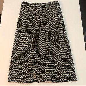 TRACY REESE Black & Ivory Pencil Skirt w/ slit